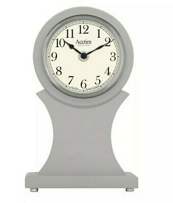 mantel /table clock painted case with spun silver bezel quartz movement