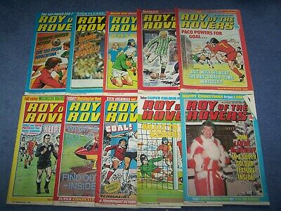 10 Roy of the Rovers Comics 15,22,29/3, 27/9, 4,11,18/10, 13,20,27/12/1980
