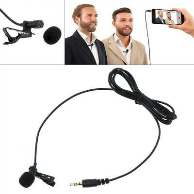 Clip On Lapel Mini Lavalier Mic Microphone 3.55mm For Mobile Phone PC Recording