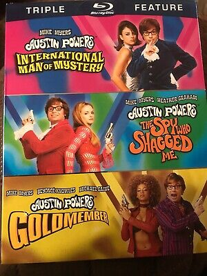 Austin Powers Triple Feature Collection (Blu-ray) With Slipcover NEW