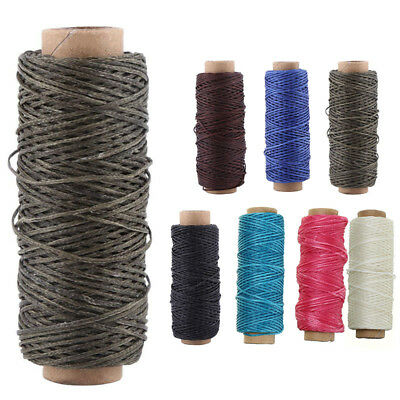 1mm Leather Sewing Flat Waxed Thread Wax String Hand Stitching Craft 50M 150D