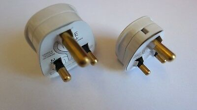 Round Pin Plug Top 5Amp or 15Amp White BS546