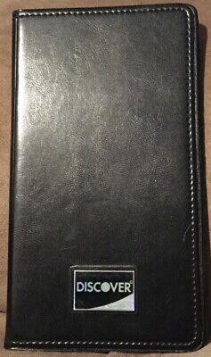 Discover Black Restaurant Double Panel Check Bill Server Book