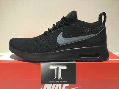 """info for 7638c e3726 Nike Air Max Thea Ultra Flyknit """"Blackout"""" ~ 881175 004 ~ Uk Size 7"""