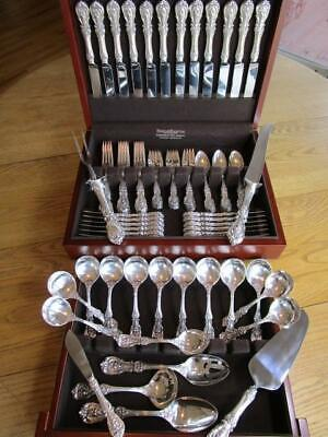 Old Mark Reed Barton Francis I Sterling Silver Flatware Set-S-12+Servers*80P****