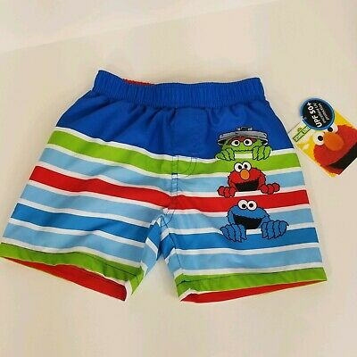 55516c7c98 Sesame Street Infant Boys 0/3 Months Swimsuit UPF 50+ Board Shorts Swim Elmo