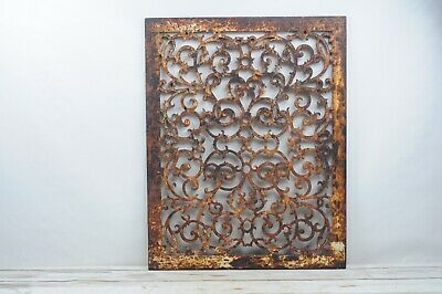 Antique Large Cast Iron Victorian Heat Grate Floor Register 28.75 X 22.75 Inches