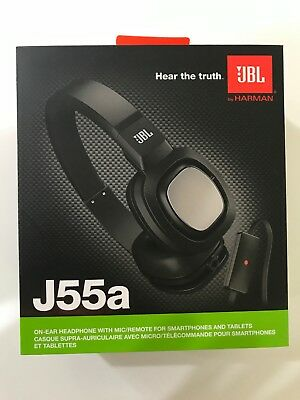 07041207430 JBL By Harman J55a High Performance On-Ear Headphones with Mic/Remote Black