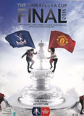 MANCHESTER UNITED v CRYSTAL PALACE FA CUP FINAL OFFICIAL PROGRAMME 2016