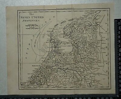1805 - The Seven United Provinces (Holland) Map by William Darton