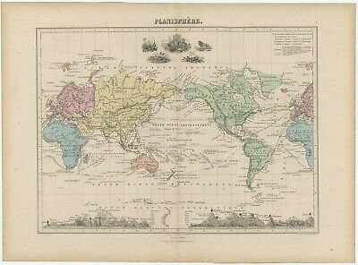 Mercator projection World Old 1841 Antique Map Mirrored Extreme Definition PDF