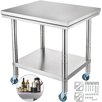 """30"""" x 24"""" Stainless Steel Work Table Kitchen/Bar/Restaurant/Laundry Commercial"""