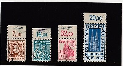Germany 1948 700Th. Anniv. Of Cologne Cathedral Sg A104/7 Fine Used Cat £24.00.