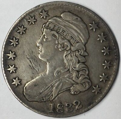 1832 50C Capped Bust Half Dollar XF Uncertified #