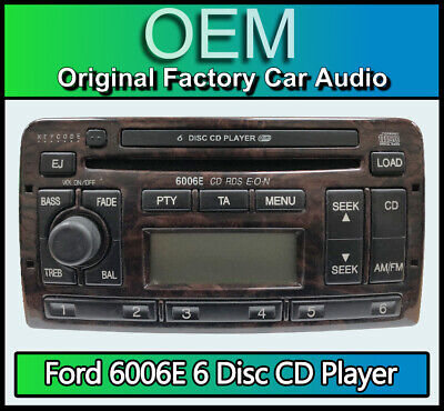 Ford Fiesta 6 Disc changer radio, Ford 6006E 6CD player car stereo + keys & code