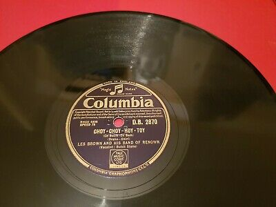 """LES BROWN & HIS BAND OF RENOWN CHOY-CHOY-HOY-TOY 10"""" 78rpm DB 2870"""
