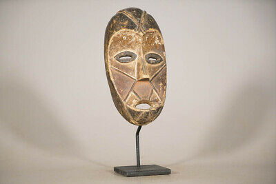 "Thoughtfully Carved Lega Mask 13"" on Stand 