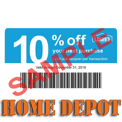 (20X) LOWES Card Coup0ns 10% OFF At Competitors Home Depot ONLY Ex 1/15/20 GIFT
