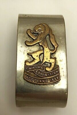 1938 Empire Exhibition Scotland Rampant Lion Silver Plated Napkin Ring EPNS
