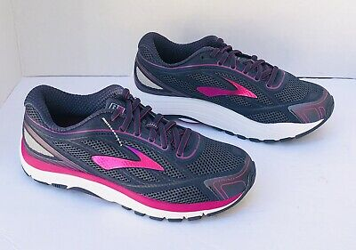 b81ca88409e BROOKS Dyad 9 DNA Womens Running Shoes Gray Purple Size 7 (Extra Wide) NEW
