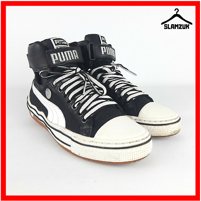 the latest aeae3 db83f Puma Mihara Yasuhiro MY 40 Mens Cutout Hi Top Leather Trainers Black UK 4    37