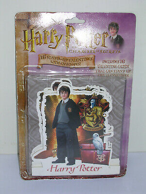 Harry Potter Chamber of Secrets 16 Valentines Cards 2002 OOP NEW OPEN PACKAGE