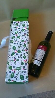 Wine Bottle Gift Box Large Christmas Luxury With Ribbon and Tag Free Postage