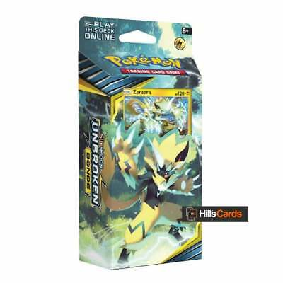 Pokemon Unbroken Bonds Lightning Loop Theme Deck - Zeraora - 60 Cards Sun & Moon
