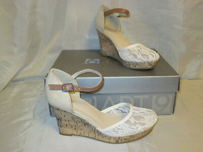 Apt 9 Women/'s Mimosa Floral Lace Platform Wedge Heel Sandals NEW Orig.Price $55