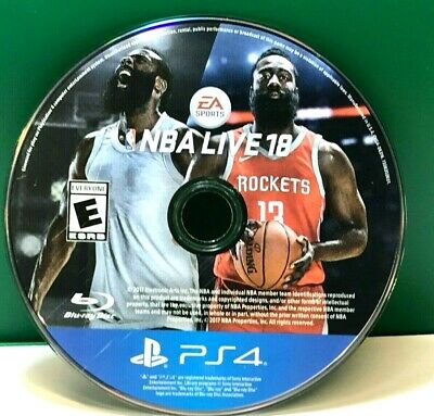 NBA Live 18 (Sony PlayStation 4, 2017) DISC ONLY 17824