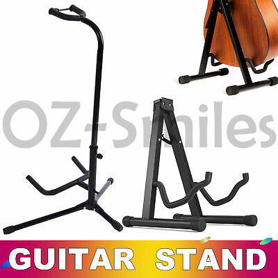 Portable Electric Acoustic Bass Guitar Stand A Frame GIG Floor Rack Holder