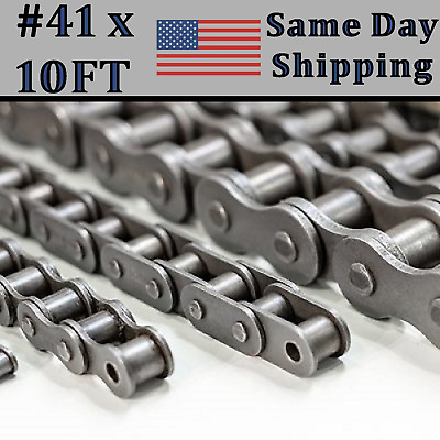 #41 Roller Chain 10 FT Box + Free Connecting Link - Same Day Priority Shipping