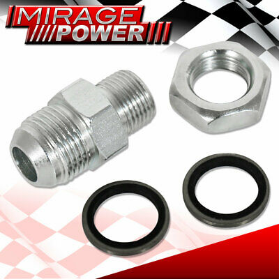 Turbo Charger Adapter Oil Pan Return Drain Steel Bung Fitting 10An Washer Weld