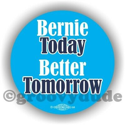 Bernie Today Better Tomorrow Sanders For President 2020 Campaign Pinback Button