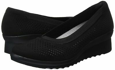 bce05d6a127cc + Clarks Womens Shoes Caddell Trail Closed Toe Wedge Pumps Black Uk 6 S,