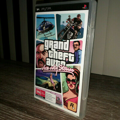 Grand Theft Auto: Vice City Stories (Sony PSP, 2006) Complete w/ Manual & Map