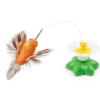Electric Rotating Butterfly Bird Funny Interactive Pet Cat Toy