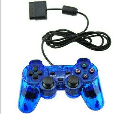 Twin Shock Game Controller Joypad Pad for Sony PS2 Playstation 2 BLUE - USA