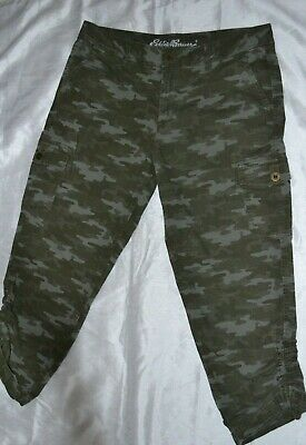 22fc3ce759 WOMEN'S ADVENTURER STRETCH RIPSTOP CROPPED CARGO PANTS CAMO Sz 12 Pre-Owned