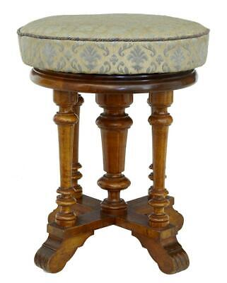 19Th Century Walnut Adjustable Piano Stool