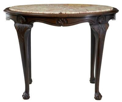 19Th Century French Oak Marble Top Center Table