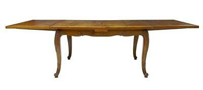 19Th Century French Inlaid Fruitwood Drawleaf Dining Table