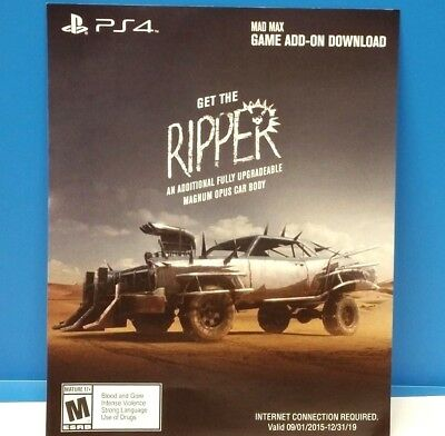Mad Max - Get The Ripper! Magnum Opus (Ps4) Dlc Add-On Game Content Only #114