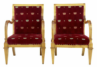 Pair Of Late 19Th Century Swedish Birch Armchairs