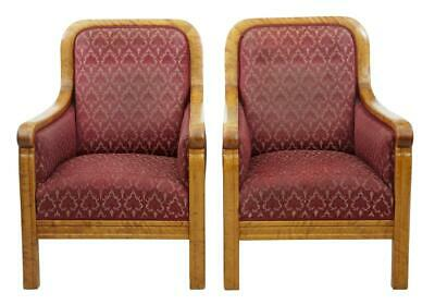 Pair Of 20Th Century Art Deco Birch Lounge Armchairs