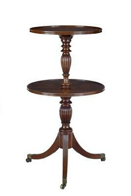 19Th Century William Iv Mahogany 2 Tier Dumb Waiter