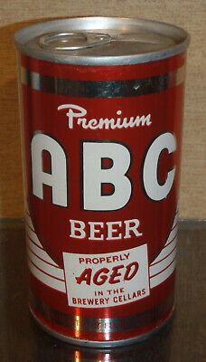 1970s ABC BEER PULL TAB BEER CAN GARDEN STATE BOTTOM OPENED HAMMONTON NJ FLORIDA
