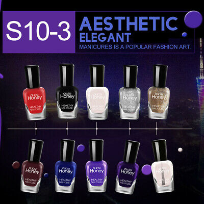 10 Color Set Quick Dry Gel Nail Polish Peel Off Colour Gel Varnish Manicure