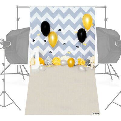 Andoer 1.5 * 0.9m/5 * 3ft Birthday Party Photography Background Balloon I7J4