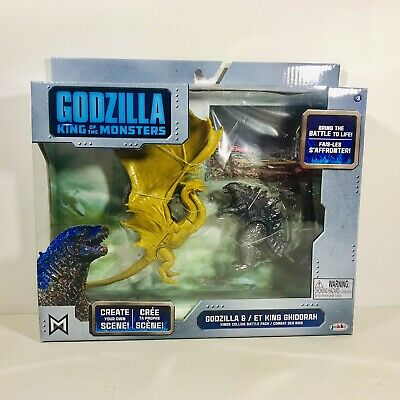 GODZILLA KING OF THE MONSTERS & KING GHIDORAH Toy Figure Set 2019 Jakks Kids